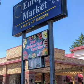 european market great european food sign